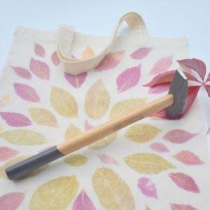 wbijanie barwnika liści