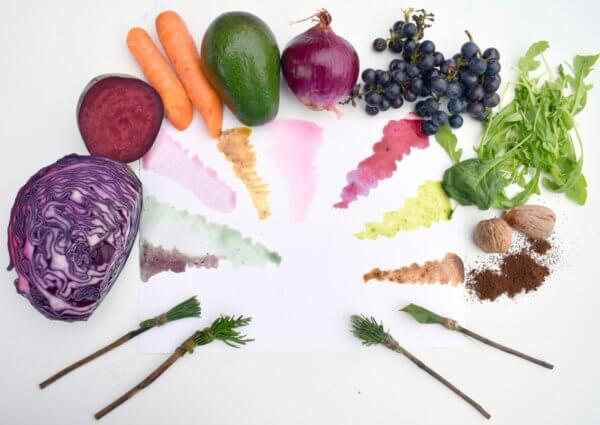 Malowanie barwnikami z owoców i warzyw