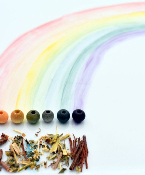 tęcza bransoletki w naturalnych kolorach tęczy
